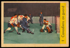 1959-60 PARKHURST HOCKEY #1 Jacques Plante Montreal Canadiens on Guard EX-NM