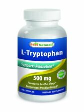 L-Tryptophan 500 mg 120 Caps by Best Naturals Supports Relaxation and Restful Sl