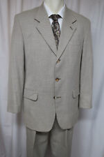 TOM TAILOR Suit 42R Tan 3 button Wool Hopsack jacket 36 x 31.75 pants
