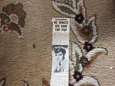 B1-8 ephemera 1961 picture pop singer johnny cymbal mr bass man