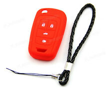Red Silicone Case Cover For Chevrolet Cruze 4 Buttons Remote Flip Key CHEV4FRE