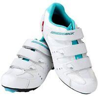 Diamondback Bicycles Women's Airen Road Shoes - Size US 8 / 41 EU - White/ Blue