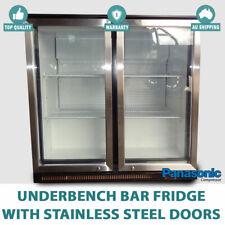 NEW 2 Door Under Bench Bar Fridge Refrigerator Stainless Steel Door underbench