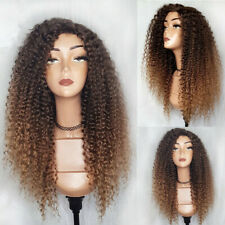 Ombre Color Lace Front Wig with Baby Hair Brazilian Kinky Curly Human Hair Wigs