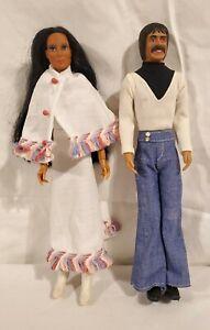 Vintage 1976 Mego Sonny And Cher Dolls