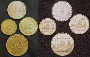 10 , 20 , 50 , 100 Franken 1954-55 Nebengebiete/Saarland 50096