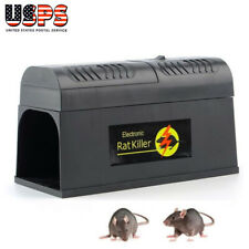 Electronic Mouse Mice Rat Zapper Mole Rodent Trap Killer Pest Control Dc 6V Us