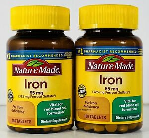 Iron 65 mg by Nature Made Iron Deficiency 360 Tablets MAR 2023 Red Blood Cells