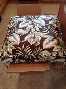 "Acrylic Patio Seat Cushions (5) - 23"" x 23"" x 4""  - Floral, Multi-Color"