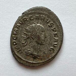 Roman Empire: Carus, 282-283 AD, silvered Antoninianus - Carus & Jupiter