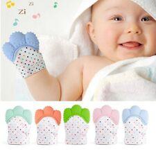 Baby Silicone Mitts Teething Mitten Glove Sound Teether Newborn Chewable Nursing