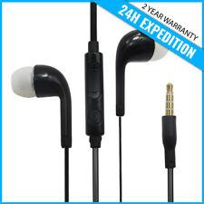 EAR HEAD BUDS EARPHONES PODS ECOUTEUR- MIC & VOLUME CONTROLS FOR SAMSUNG BLACK