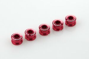 x5 New 7075 Cycling Bike Bicycle Chainring Bolts for Single Speed Crank - Red