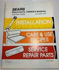 Sears Kenmore Electric Range Models 93481, 93581  Owner's Manual 1988 Vintage photo