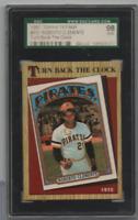 1987 Topps Tiffany Roberto Clemente Turn Back The Clock 313 SGC 98 121820MLCD
