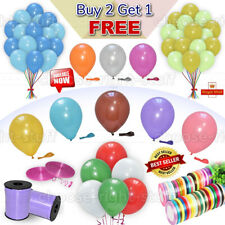 30 X Latex PLAIN BALLOONS BALLONS helium Quality Party Birthday Colourful BALOON