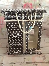 Shabby Chic Upcycle Vintage Retro Black & White Polka Dot Jewellery Box Wooden