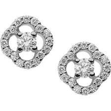 Orecchini punto luce donna Comete gioielli ORB 779 oro bianco diamanti 0,24 ct