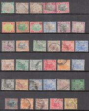 Federated Malay States: Collection of old stamps, mint and used