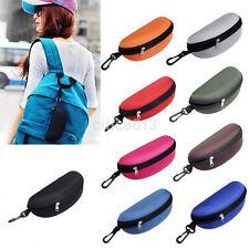 Zipper Hard Eye Glass Case Box Sunglass Protector Travel Fashion w/ Belt Clip UK