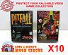 10x ATARI JAGUAR CIB GAME - CLEAR PLASTIC PROTECTIVE BOX PROTECTOR SLEEVE CASE