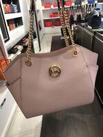 NWT Michael Kors Blossom Saffiano Leather Jet Set Travel Chain Shoulder Tote Bag