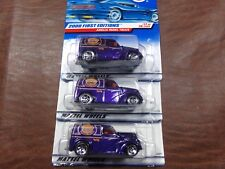 LOT OF 3 HOT WHEELS 1/64 JONATHANS EXPRESS DELIVERY ANGLIA PANEL TRUCK 2000 #077