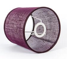 Lampenschirm Violett Rustikal  E14 Aus groben Gewebe für  Nachttischlampen