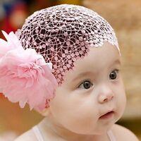 Cap Fashion Elastic Flower Headband Newborn Baby Kid Girls Hair Accessories