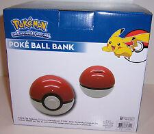 NINTENDO POKEMON POKE BALL Pokeball CERAMIC Piggy BANK Money Coin Holder NEW!