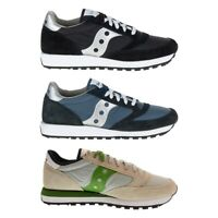 New Saucony Jazz Original Men Fashion Suede Shoes Black Blue Grey Sneakers NIB