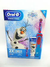 Oral-B Kids Disney's Frozen Rechargeable Electric Toothbrush Kit NEW Magic Timer