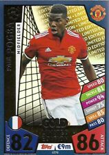 MATCH ATTAX CHAMPIONS LEAGUE 2017/18 LIMITED EDITION POGBA GOLD MANCHESTER UTD