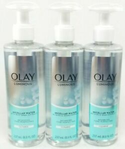 Olay Luminous Micellar Water w/ Rice Bran Extract Cleanse - 8 oz (3 PACK)