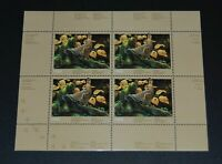 Quebec Wildlife Habitat Conservation 1988 sheet of 4 MNH Unitrade #QW1