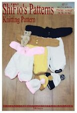KNITTING PATTERN for BABY PRAM SUIT & HAT preemie, 0-3mths, 3-6mths #115