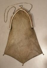 Whiting and Davis Vintage Mesh Purse with Blue Cabochon Catch
