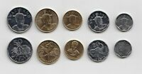 SWAZILAND –   SET of 5 coins ( 2015)coins from 10 CENTS - 2 EMALANGENI