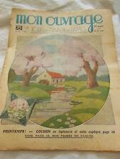 MON OUVRAGE 1938 n°364 coussin papiers peints  1ere communion ensemble bébé