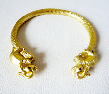 NEW Gorgeous Gold Elephant Bangle Cuff Bracelet Crystal Detail