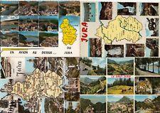 Lot 4 cartes postales anciennes JURA multivues