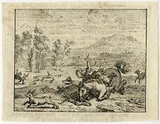 Antique Print-EMBLEM-HORSE-HUNTER-THROWN-PREY-Spinneker-Vinne-1758