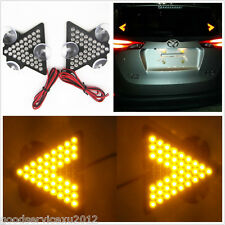 One Pair 5W Amber LED Auto Rear Windshield Turning Signal Arrow Lights For Mazda