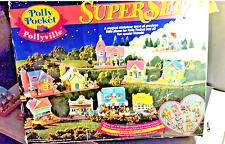 vintage RARE!!!Polly Pocket Pollyville  Super Set  w/ Original Box #13722