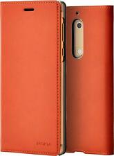 Genuine Nokia 5 Brown Copper Slim Flip Case Cover Wallet Pouch CP-302