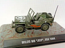 Armored Jeep Ardennes Maßstab 1:43 Fertigmodell aus Metall in Displayvitrine
