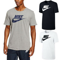 Nike Mens Icon Futura Gym Sports Cotton Tee T-Shirt Top Swoosh Size S M L XL