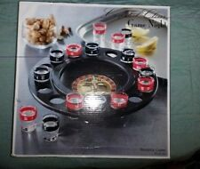 SHOT GLASS Roulette Drinking Game 16 Shot Glasses Spinning Wheel Game night. G3