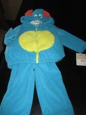 NWT Carter's Boys Fleece Blue Little Monster Halloween Costume 2 Pcs Set 12 Mos