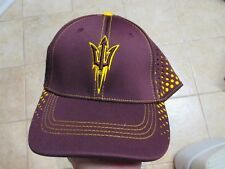 """ARIZONA STATE SUNDEVILS TOP OF THE WORLD """"ONEFIT M/L"""" FLEX FIT HAT NWT $28 GREAT"""